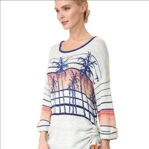 Free People Slouchy breezy Palm Sweater XS
